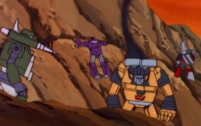"Hound, Speed Demon, Sunstreaker, and Bluestreak (from ""Divide and Conquer"")"