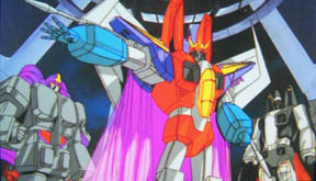 Starscream, shown here wearing the new Really Big Armor™.