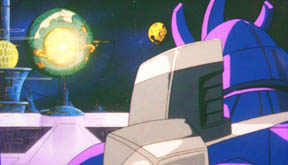 After Moon Base One and Two are consumed, Galvatron looks on as Unicron approaches, uh, Moon Base Two.