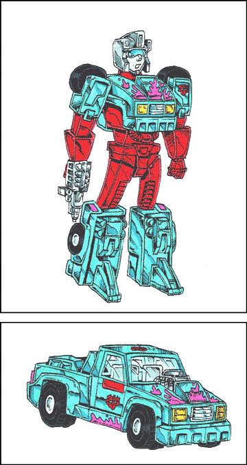 Turbofire (Robot and Pickup Truck Modes)