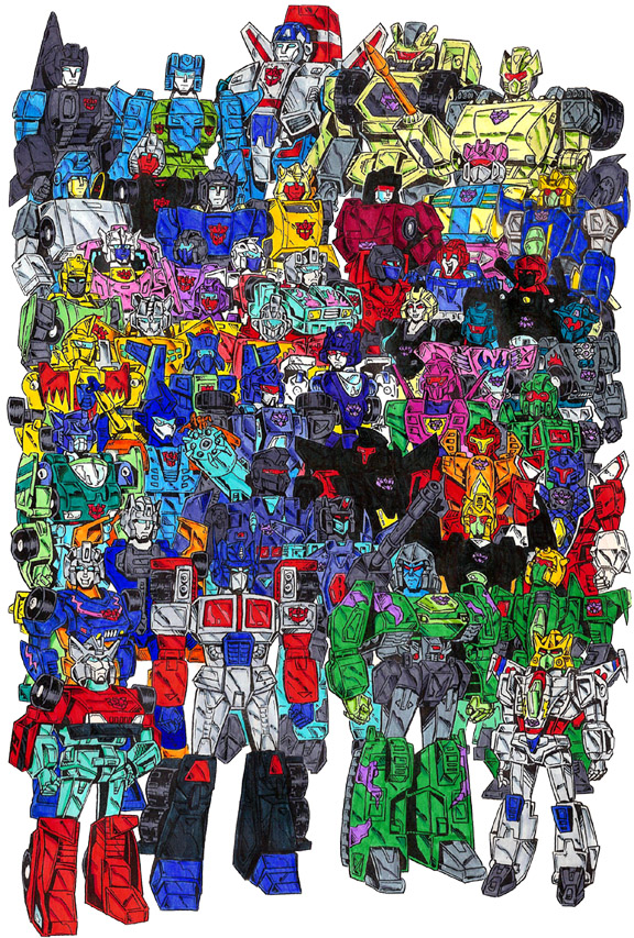 "The Cast of ""Children of Cybertron"" from Transformers: Generation 2"